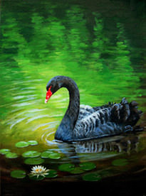 Elena Esina black swan painting