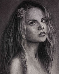 Commission portrait drawing artist Elena Esina