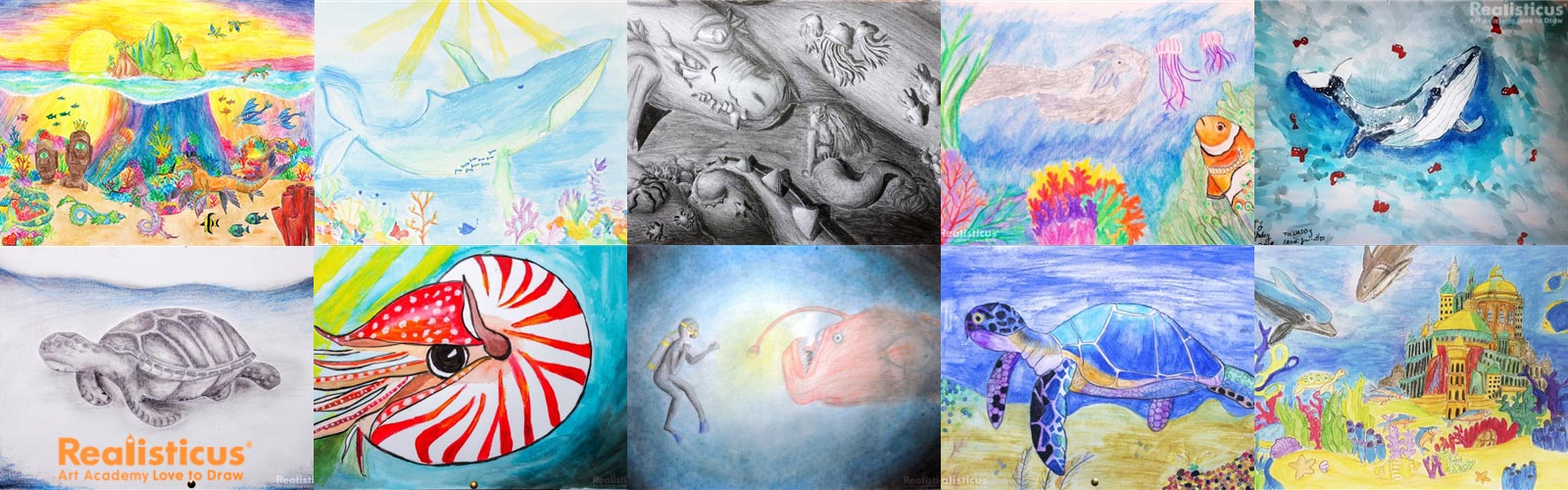 Realisticus Art Classes for Children Dragon Eye Drawing Lesson