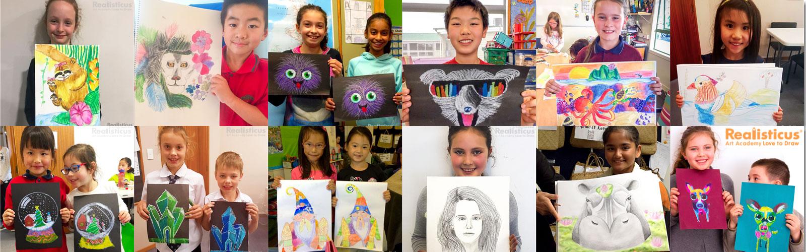 Realisticus Art Academy Kids Art Show in Auckland
